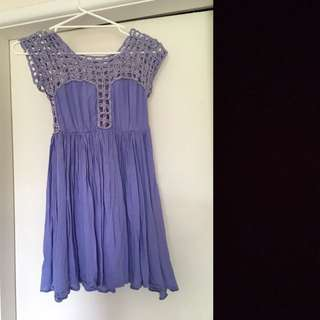 Purple Crochet Dress Size 8