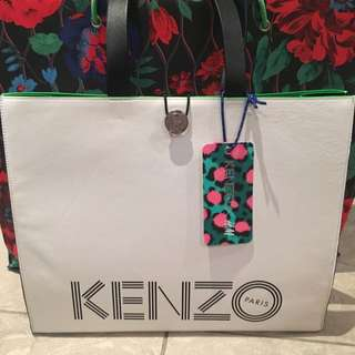 New H&M X Kenzo Large Leather Shopper Bag