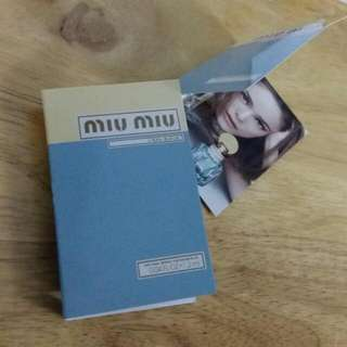 全新 Miu Miu L'EAU BLEUE natural spray