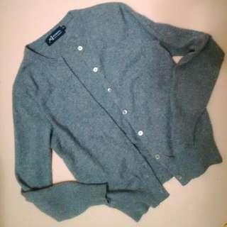 灰色格紋學院風針織外套【 #三百元外套】