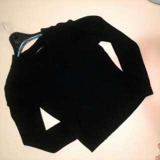 Seizures One黑色針織V領毛衣