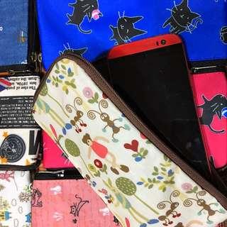 現貨 全新 防水雙拉手機袋零錢包二用i6s可 另有大號的