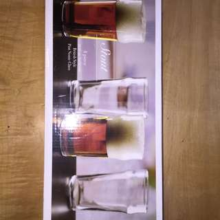 4 Pack Of Stout Pint Glasses