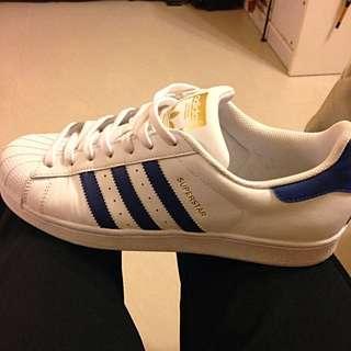 二手Adidas10.5 藍白金標正品