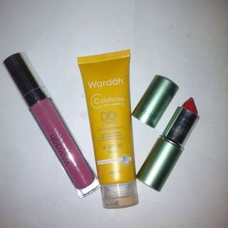 Wardah DD Cream, Lip cream, Lipstik