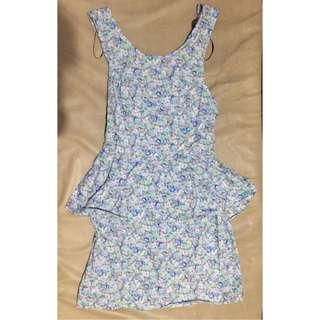 Chica Booti Floral Peplum Dress