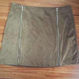 Beige Skirt With Zipper
