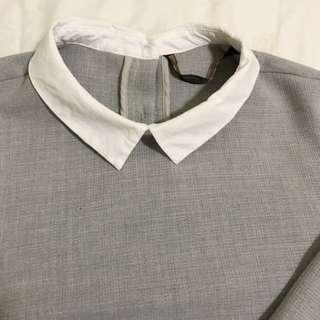 Zara假兩件式襯衫