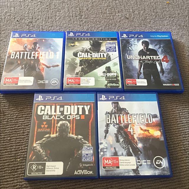5 PS4 GAMES BUNDLE