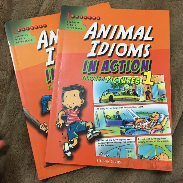 看漫畫學英文(動物相關的慣用語)購於新加坡