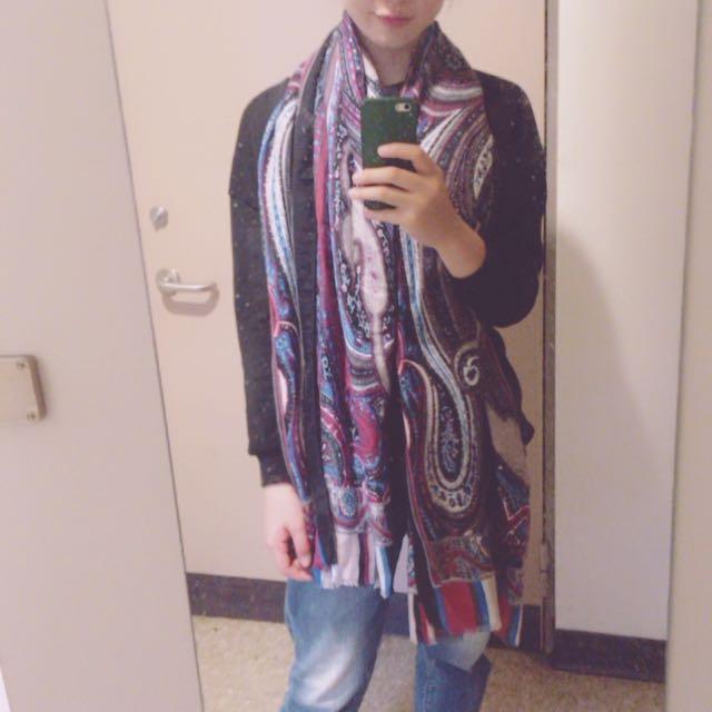 全新民族風圖騰圍巾披巾