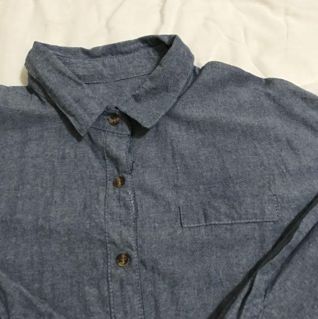 牛津藍襯衫