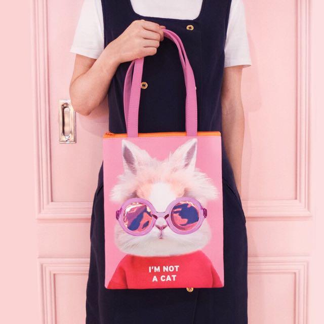 🇰🇷韓國代購 Bentoy 包 卡通 動物 可愛 手提包 兔子 法鬥 手提袋 肩背 帆布包 購物袋 袋子 帆布袋