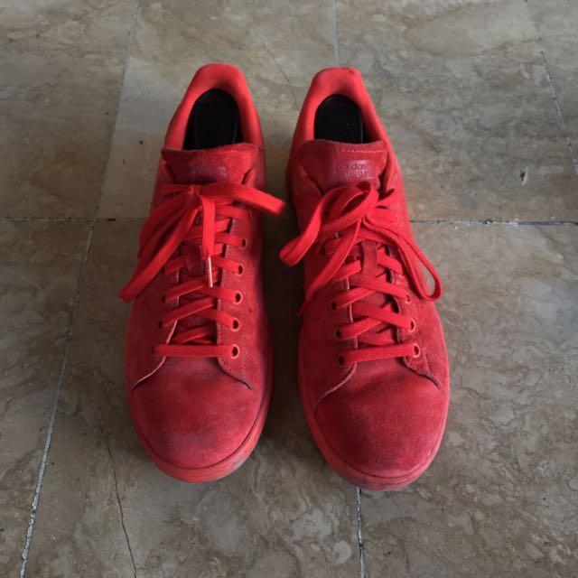 Adidas Super Star Red Suede