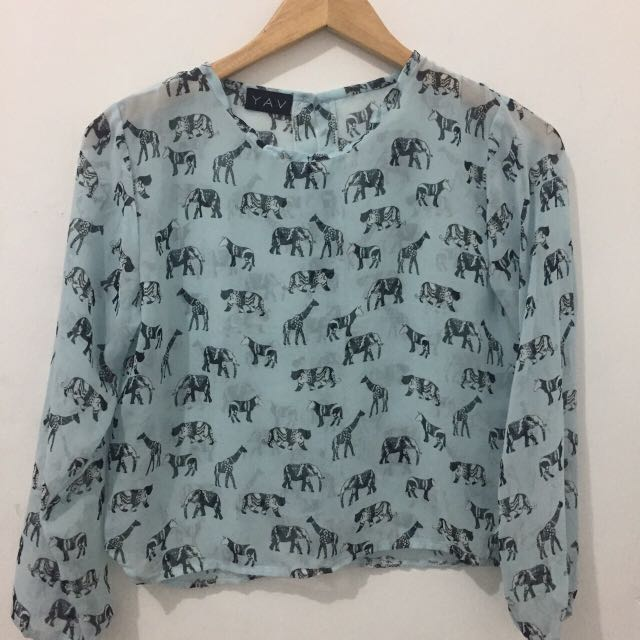 Animal Printed Top Blouse
