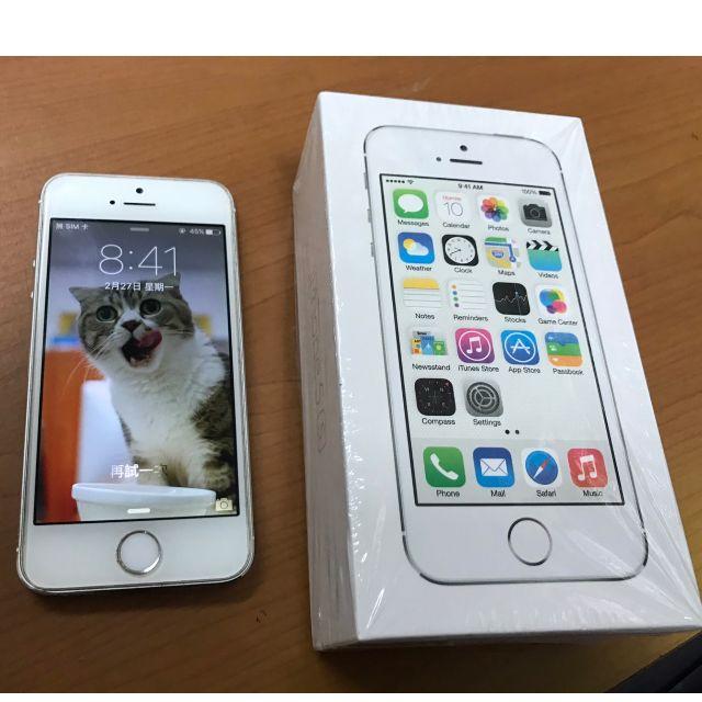 Apple iPhone 5S 銀色 16g  Apple iPhone 5S 二手手機 二手空機 功能正常