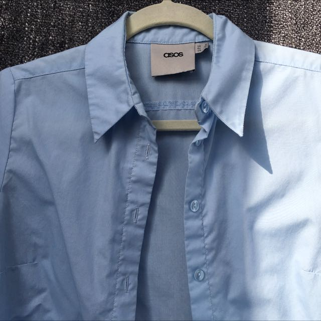 ASOS Light Blue Button-up Size 2