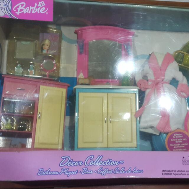 Barbie Bathroom Set Toys