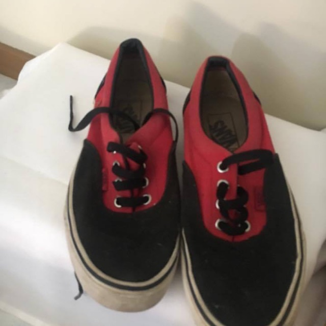 Black and Red Vans