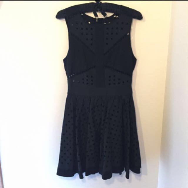 Black Cutout Missguided Skater Dress
