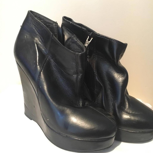 Black Marco Gianni Wedges