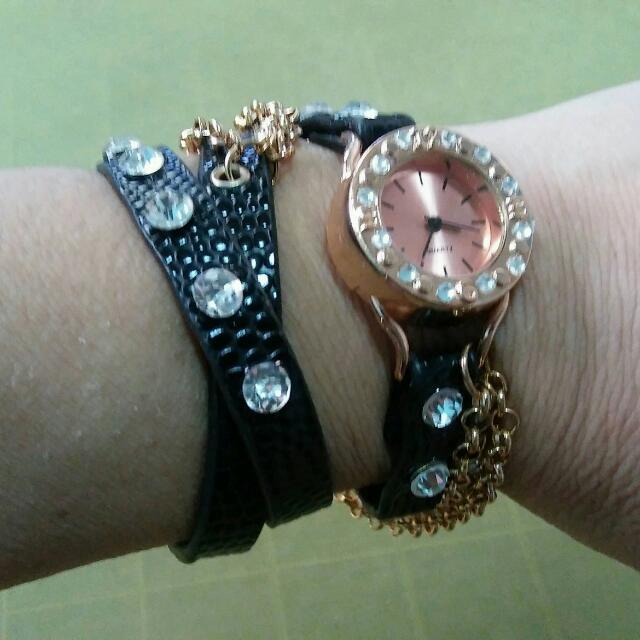 Black Strap Watch