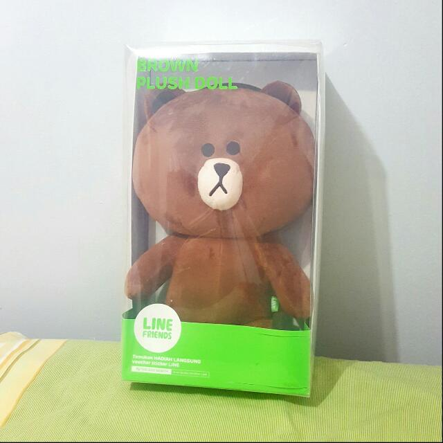 Boneka LINE Official Brown NEW