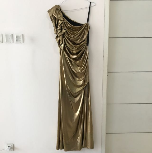 BRAND NEW Gold Evening Dress