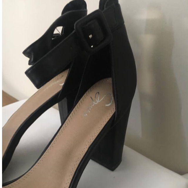 Brand New Spurr Black Block Heels