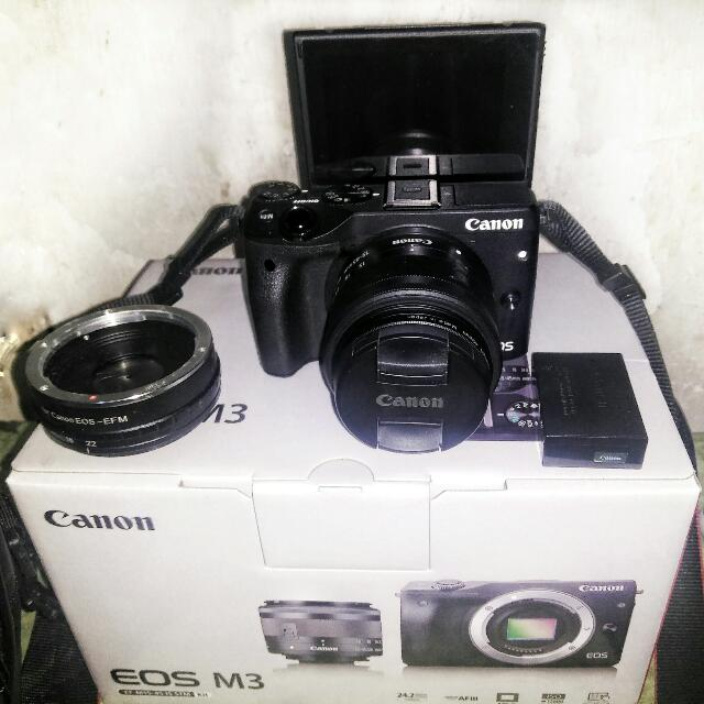 Canon EOS M3 + Lensa EF 15-45 IS STM