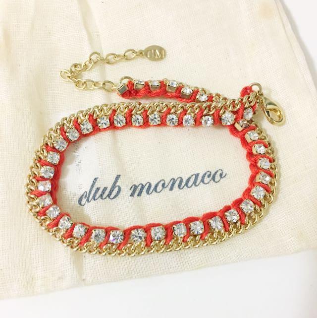Club Monaco 水晶編織手鍊