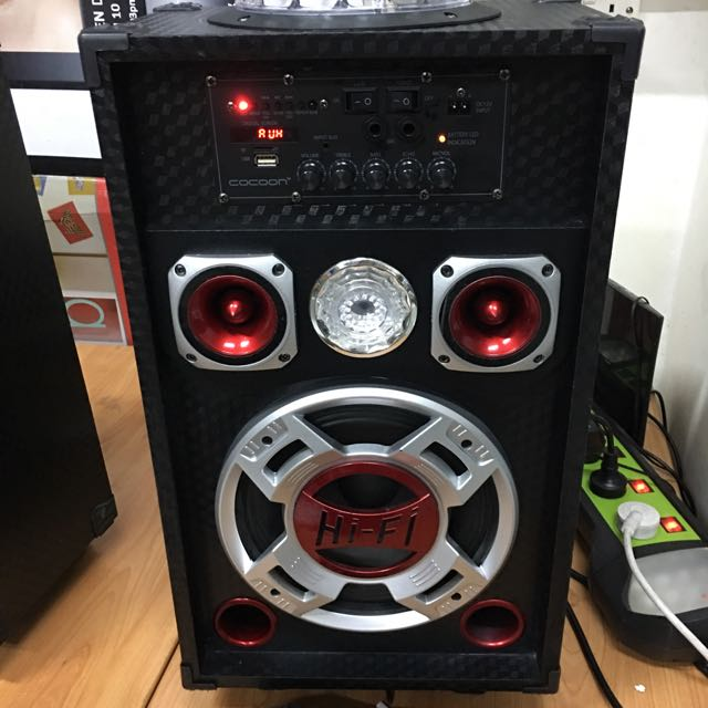 Display Set Cocoon Dj Speakers With Party Lights