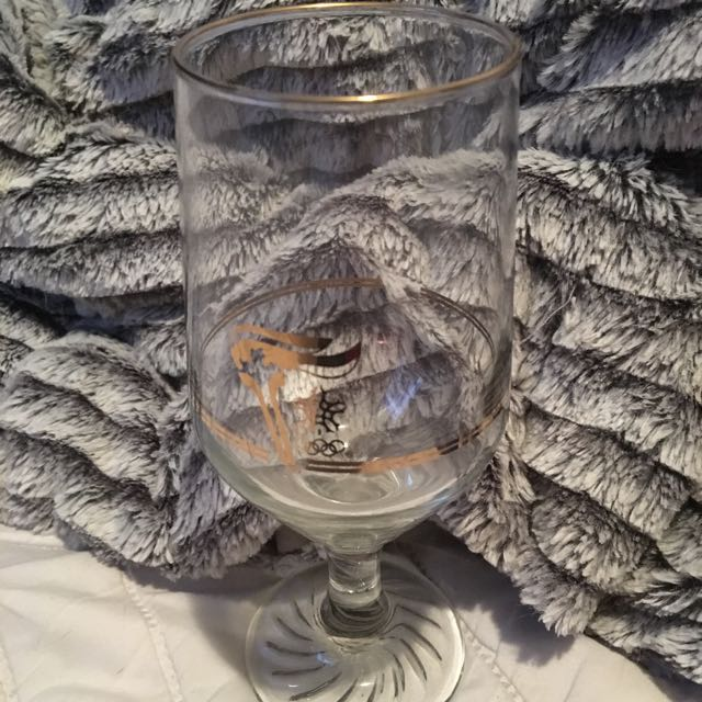 1988 Collector Olympic Wine Glasses