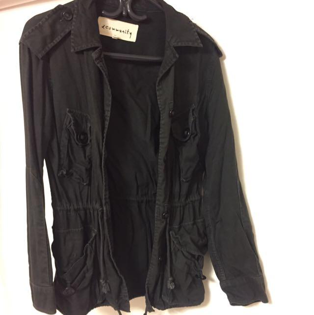Aritzia Community Black Utility Jacket