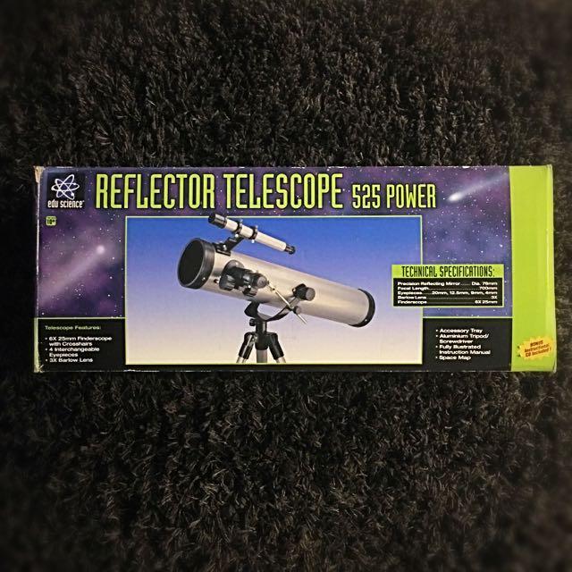 Edu Science Reflector Telescope 525 Power