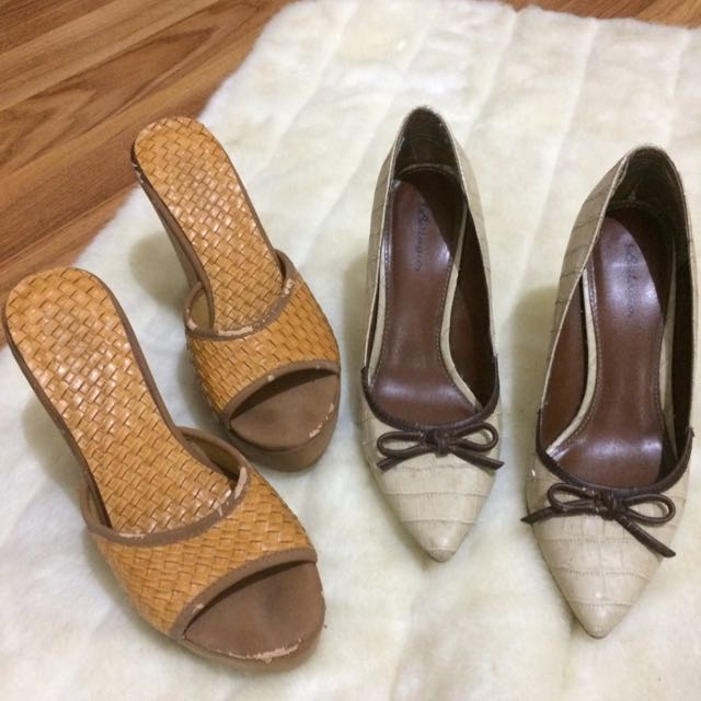 evb Wedges And Bellagio Heels