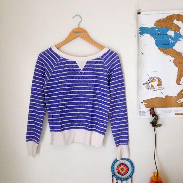 F21 Blue striped sweater