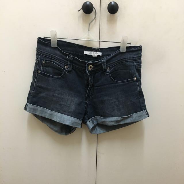 Forever21 Black Denim Shorts