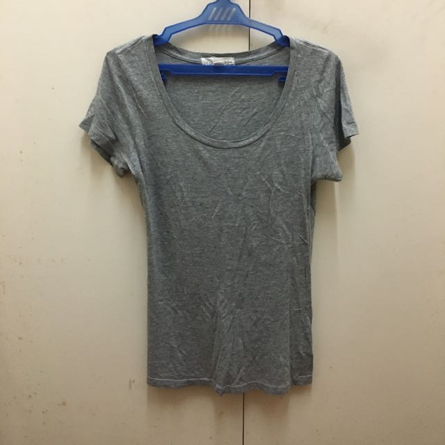 Forever21 Heather Gray Scoop Neck Shirt
