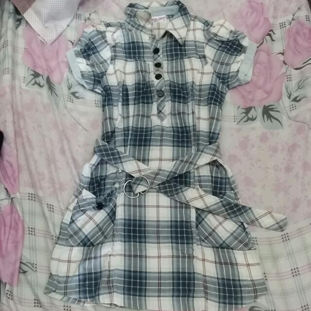 Sale!!! Jagthug Denim Dress With Belt
