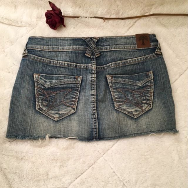 Denim Mini Mini Skirt