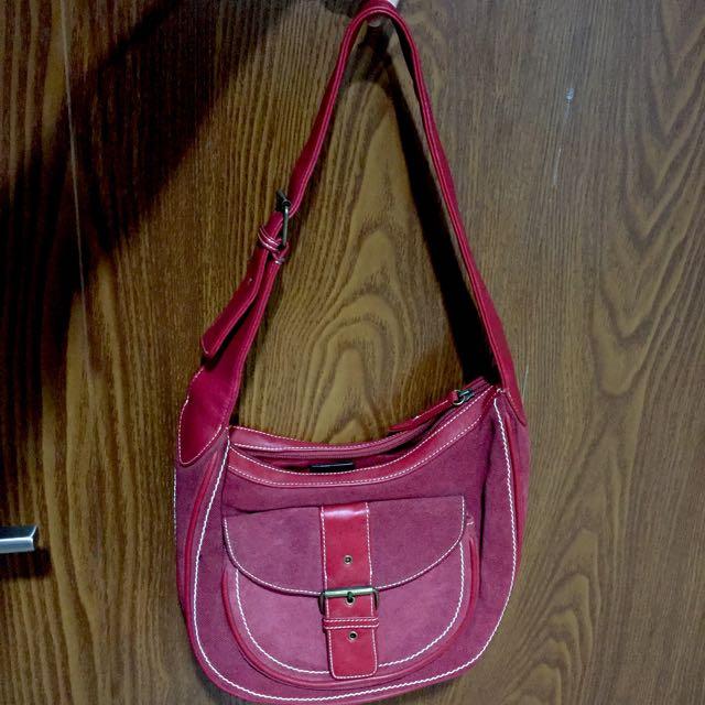 LIZ CLAIBORNE ORINAL Leather shoulder Bag