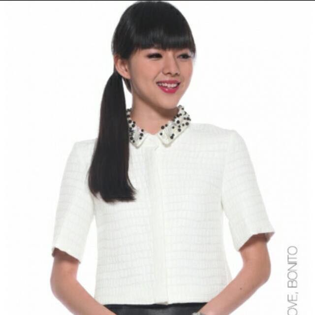 419f362a6f254d Love Bonito Covet Thalisha Embellished Collar Top, Women's Fashion ...