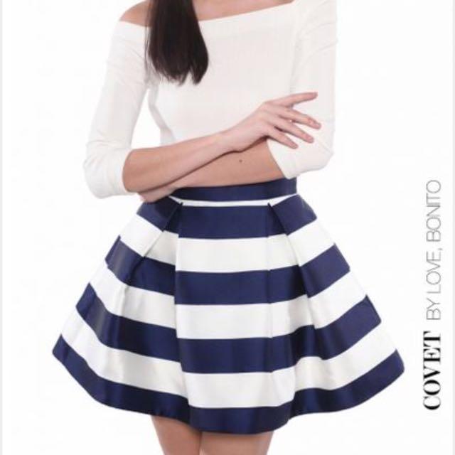 Love Bonito Cover Charina Striped Mini Skirt