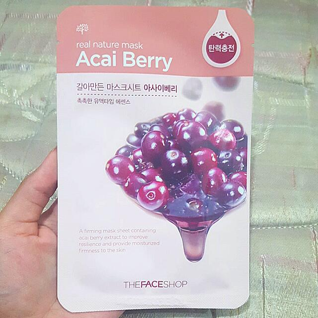 Masker ORI The Face Shop Acai Berry