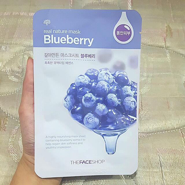Masker ORI The Face Shop Blueberry NEW
