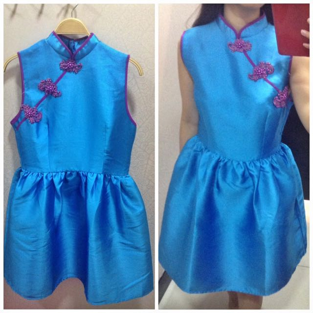 NEw Cheongsam BLue
