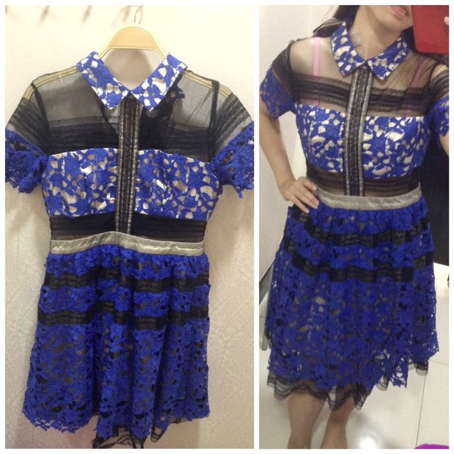 NEW DRESS BROKAT BIRU