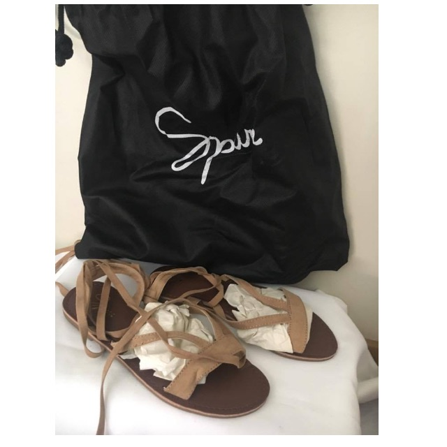 Nude / Tan Spurr Lace up Sandals