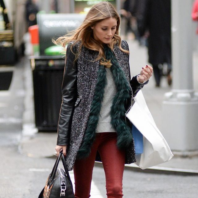 Olivia Palermo 穿的 Zara 黑色大衣 #運費我來出